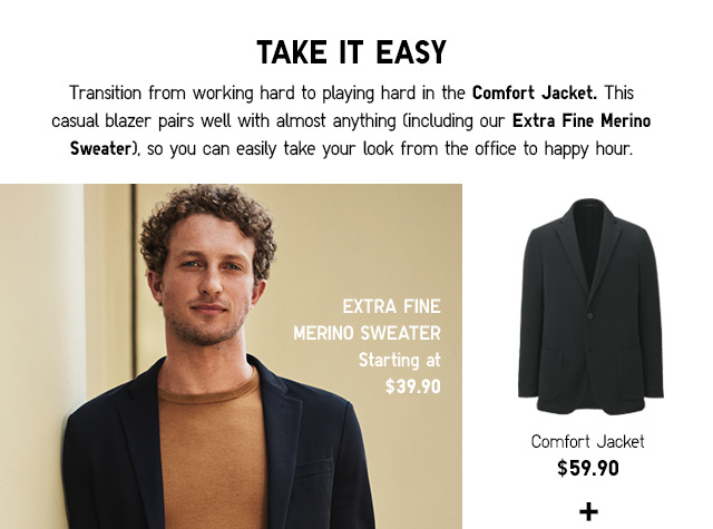 Comfort Jacket $59.90 -- Shop Now