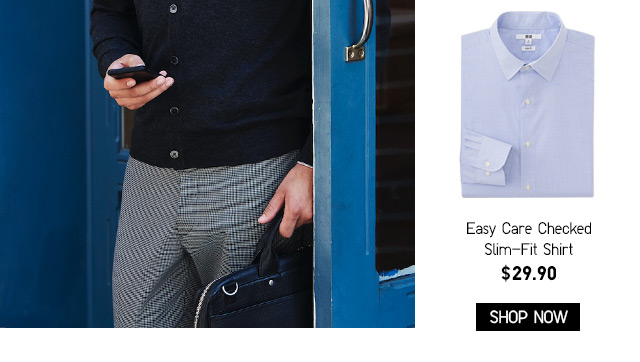 Easy Care Slim-Fit Shirt $29.90 -- Shop Now