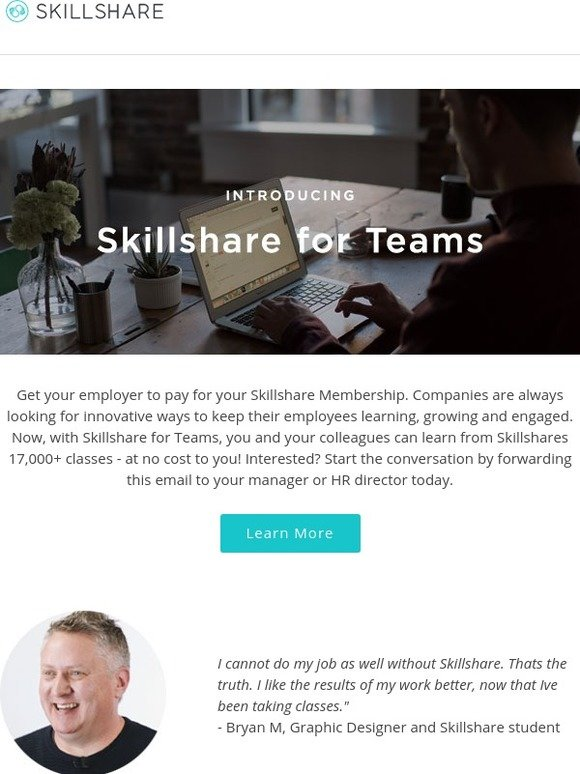 Skillshare: Get Your Employer to Pay for Your Skillshare Membership