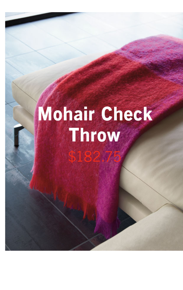 Mohair Check Throw