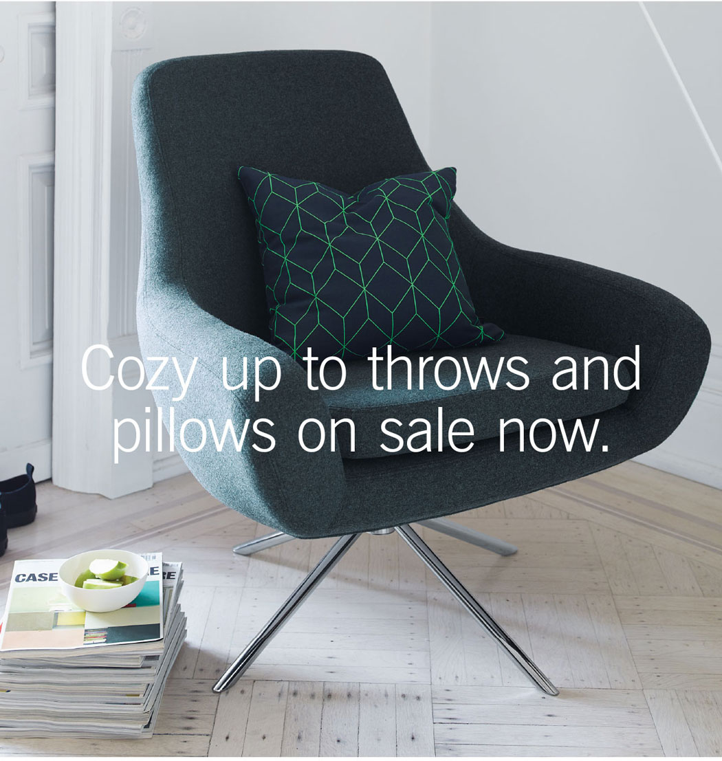 Cozy up to throws and pillows on sale