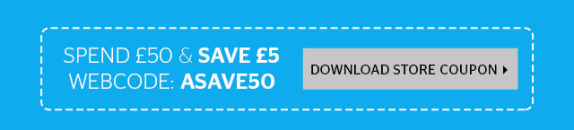 spend £50 and save £5
