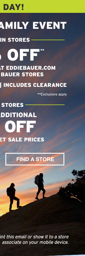 40% OFF YOUR PURCHASE | FIND A STORE