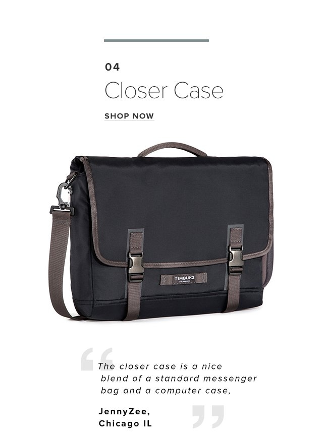 04 – Closer Case – Shop Now – The closer case is a nice blend of a standard messenger bag and a computer case – JennyZee,Chicago IL
