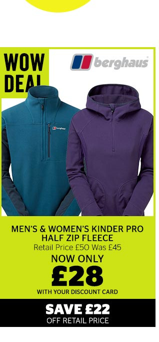 Berghaus Men's and women's Kinder Pro Half Zip Fleece