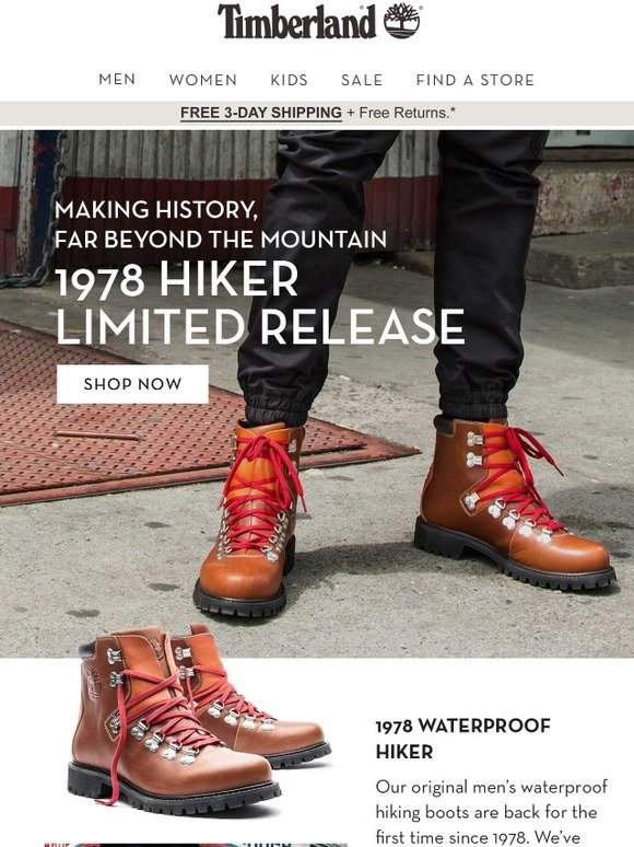 9ff53e59e82 Timberland: Limited Release 1978 Hiker | Milled