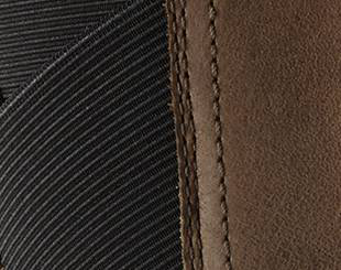 A close up of gore stretch detail.