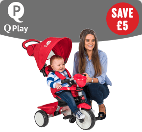 Q Play Comfort 4-IN-1Trike Red