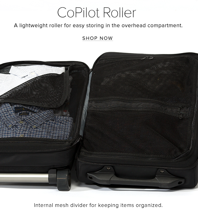 CoPilot Roller – A lightweight roller for easy storing in the overhead compartment. - shop now