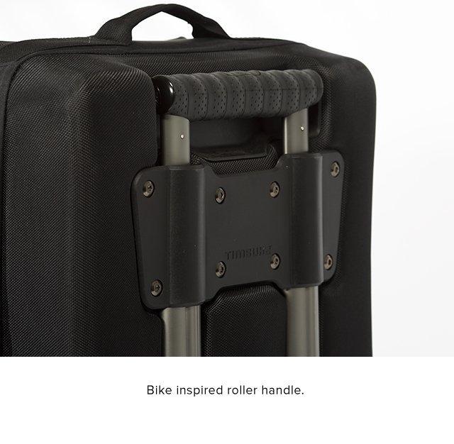 Rolls on skate wheels for easy transporting.