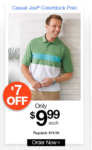 Casual Joe Colorblock Polo