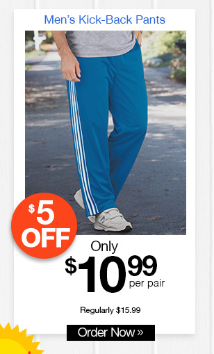 Men's Kick-Back Pants