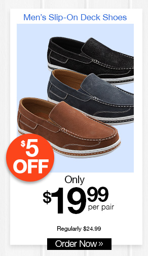 Men's Slip-On Deck Shoes