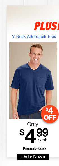 V-Neck Affordabili-Tees