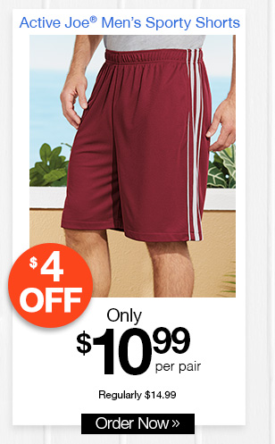 Active Joe Men's Sporty Shorts