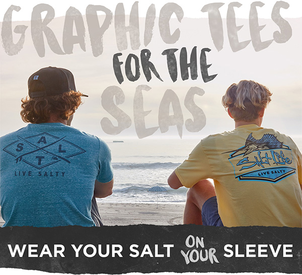 Express your love of the Salt Life with graphic tees.