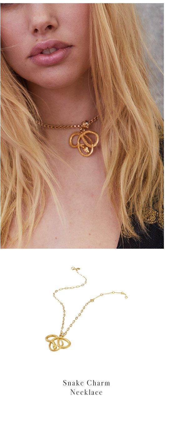 Snake Charm Necklace