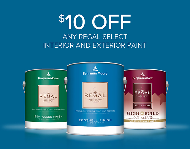 $10 off Regal Select Interior and Exterior Paint