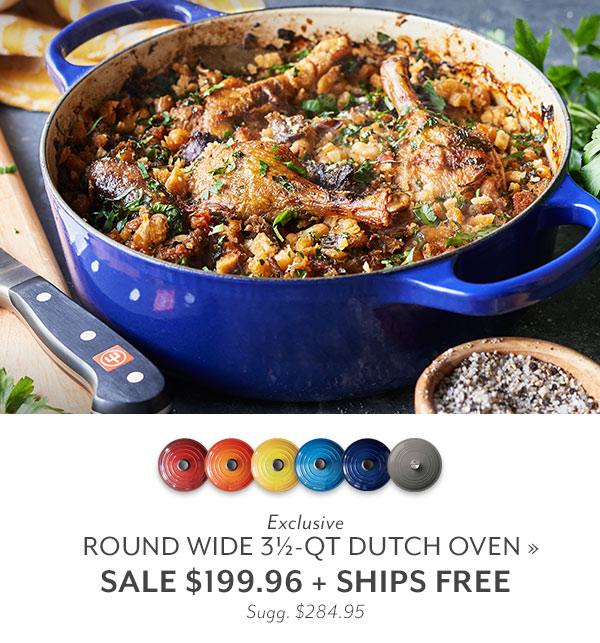 Round Wide 3.5 QT Dutch Oven Sale $199.96 + Ships Free