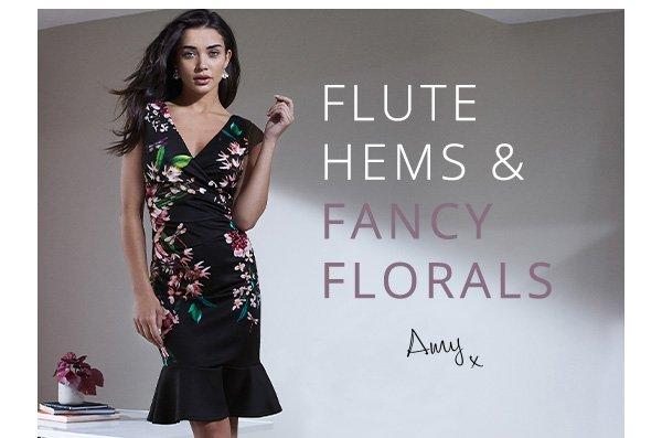 LIPSY PRINTED FLORAL HEM BODYCON DRESS