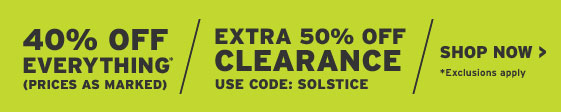 30% Off Everything. *Exclusions Apply. Extra 40% Off Clearance. Discount Auto-Applied In Cart. Shop Now.