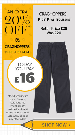 Craghoppers Kids' KIWI trousers