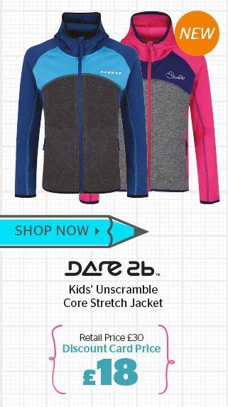 Dare2b Girls' Unscramble Core Stretch Jacket