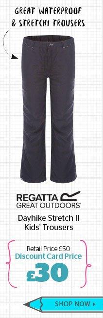 Regatta Dayhike Stretch II Kids' Trousers