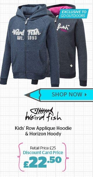 Weird Fish Kids' Row Applique Hoodie  & Horizon Hoody