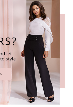 LIPSY CORSET DETAIL TROUSERS