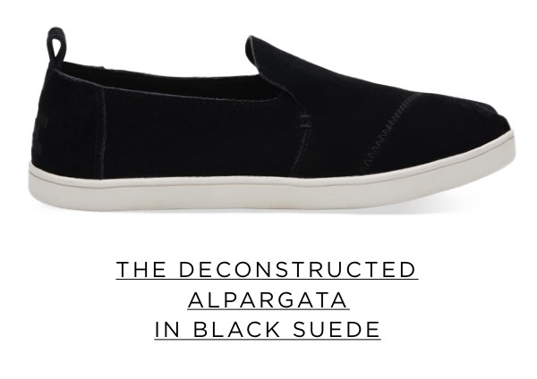 The Deconstructed Alpargata in Black Suede
