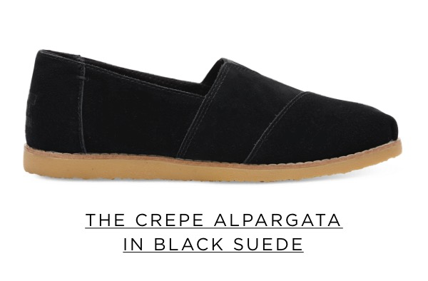 The Crepe Alpargata in Black Suede
