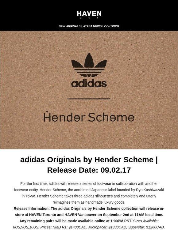 Haven: adidas Originals por hender sistema fecha de lanzamiento: