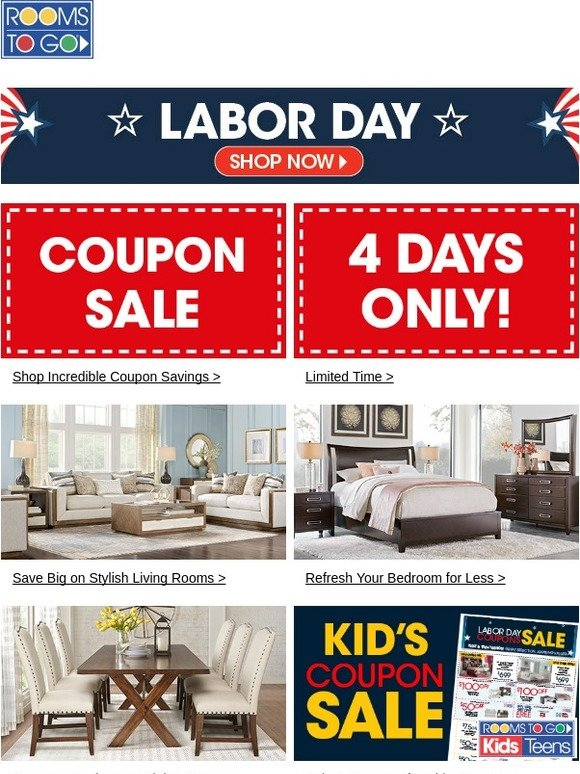 Rooms To Go Coupon Sale Special Financing Low Monthly Payments