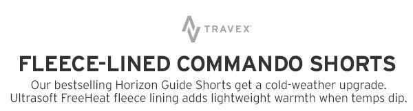 FLEECE-LINED COMMANDO SHORTS | SHOP MEN'S SHORTS