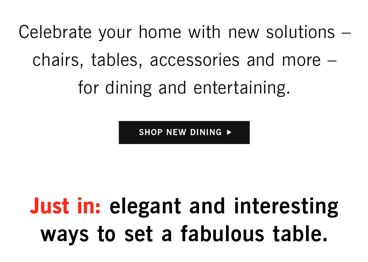 Shop new dining