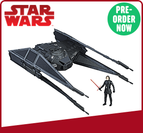 Star Wars The Last Jedi TIE Silencer and Kylo Ren Figure