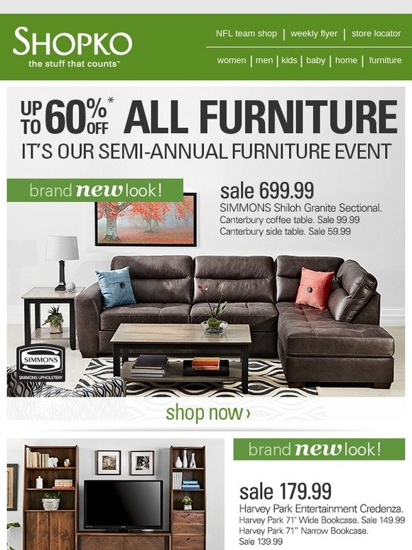 Shopko Have A Seat Semi Annual Furniture Sale Milled