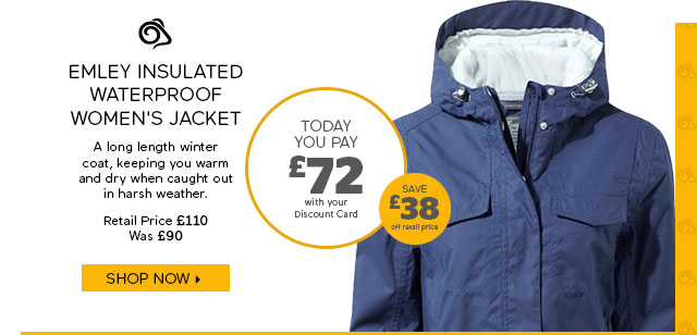 Craghoppers Emley Insulated Waterproof Women's Jacket