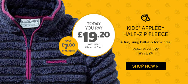 Craghoppers Kids' Appleby Half-Zip Fleece