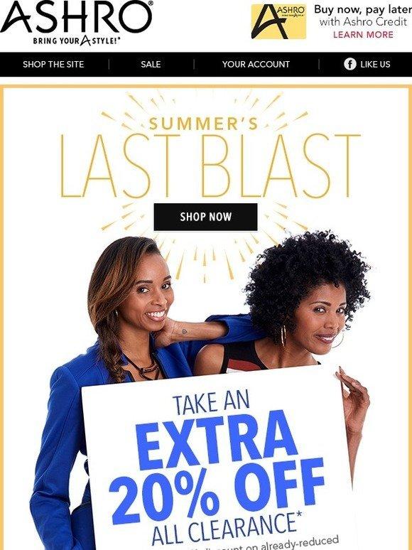 Ashro: Summer's Last Blast Sale - Save Big! | Milled