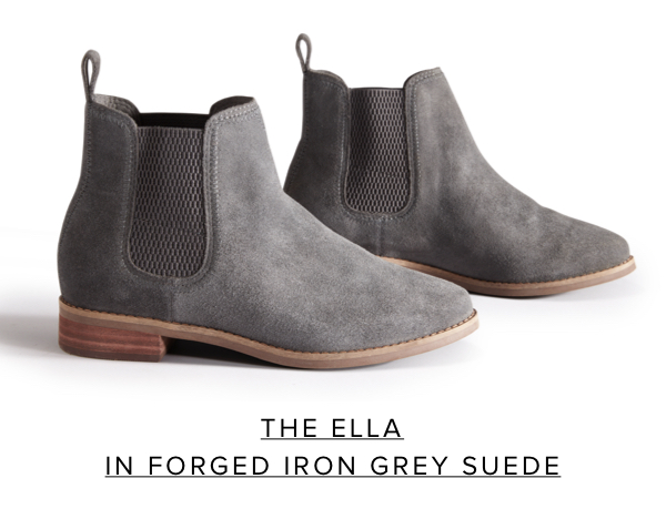 The Ella in Forged Iron Grey Suede