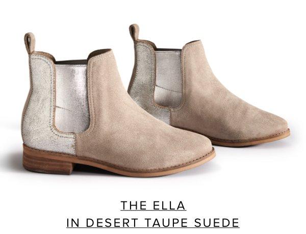 The Ella in Desert Taupe Suede