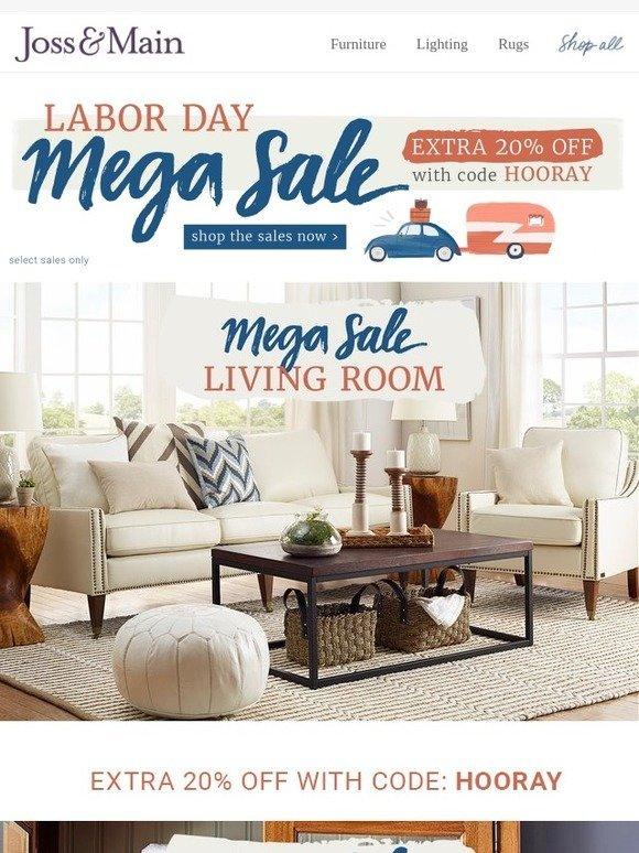 joss main code inside extra 20 off living room bedding more labor day mega sale. Black Bedroom Furniture Sets. Home Design Ideas