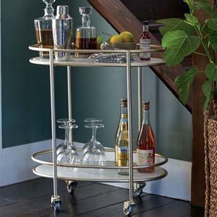 Marble & Gold Bar Cart ›
