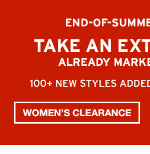 TAKE AN EXTRA 50% OFF | SHOP WOMEN'S CLEARANCE