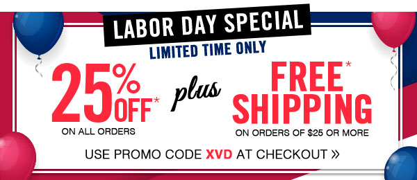 Labor Day Savings!