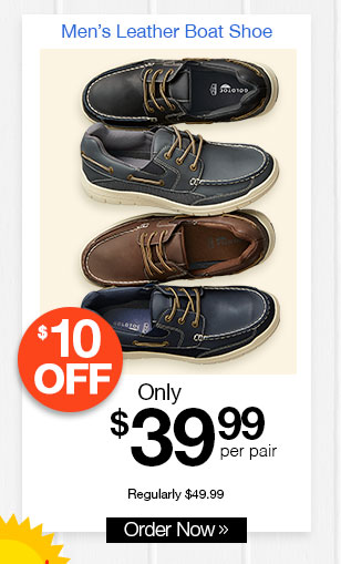 Men's Leather Boat Shoe