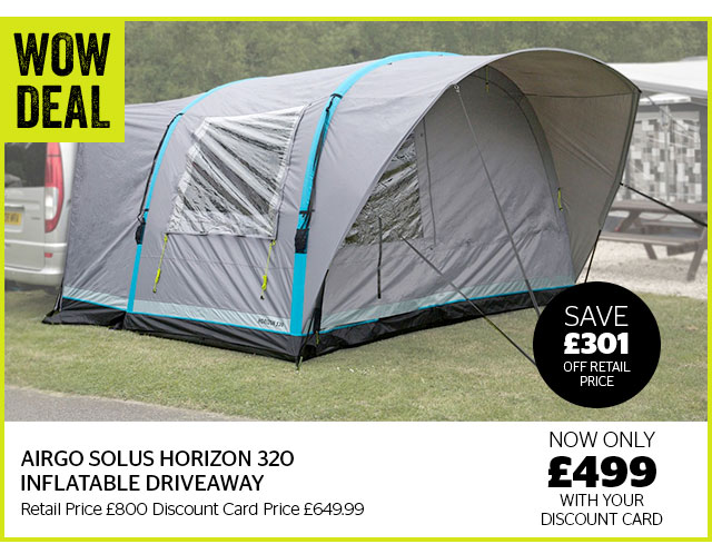 WOW Deal Airgo Solus Horizon 320 Inflatable Driveaway Awning