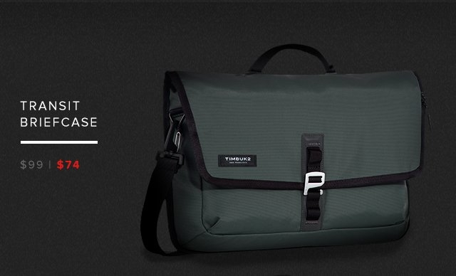 Transit Briefcase — was $99 now $74